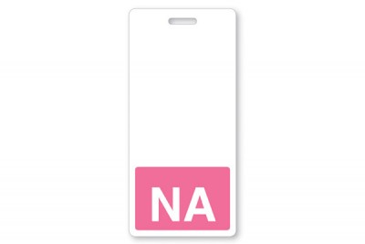 NA Vertical Badge Buddies, Pink (25/Pkg)