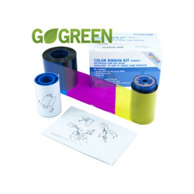 Datacard Go Green YMCKT Color Ribbon Kit (with Resin) - 500 prints/roll