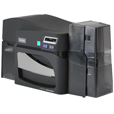 Fargo 55120 - DTC4500e ID Card Printer (Dual Side, USB, Ethernet, with Locking Hoppers)