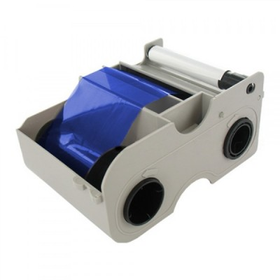 Fargo 45103 Blue Monochrome Ribbon Cartridge with Cleaning Roller