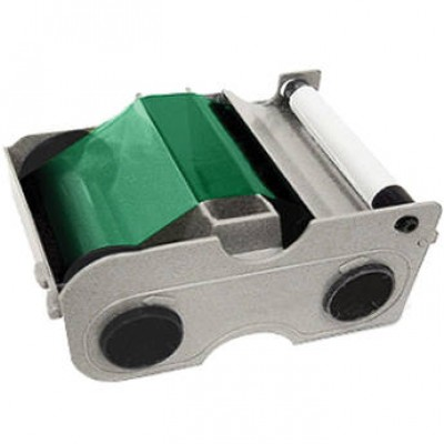 Fargo 45104 EZ Green Cartridge with Cleaning Roller