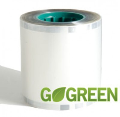 Datacard Go Green 0.5 mil Clear Laminate for Magnetic Stripe Cards - 375 prints/roll