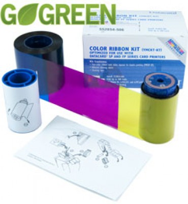 Datacard 534000-112 YMCKT Color Ribbon Kit - 125 prints/roll