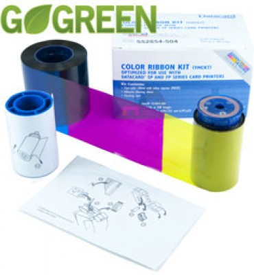 Datacard 534000-007 YMCKT-K Color Ribbon Kit - 375 prints/roll
