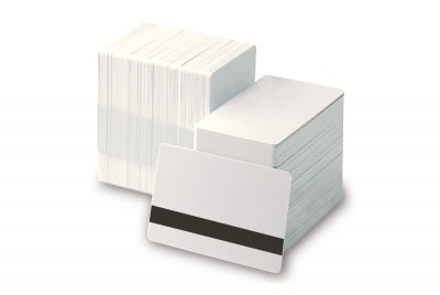 Zebra 104524-803 Retransfer Ready White Composite Card with HiCo Magnetic Stripe