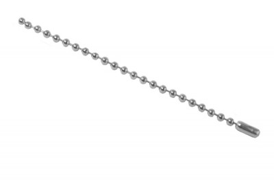 "Nickel-Plated Steel Ball Chain, 4"", No 3 Bead Size (1000/Pkg)"