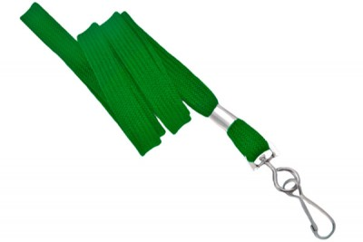 "Green 3/8"" Lanyard w/ Swivel Hook (100/Pkg)"