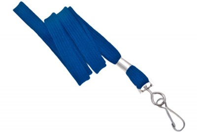 "Royal Blue 3/8"" Lanyard w/ Swivel Hook (100/Pkg)"