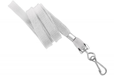 "White 3/8"" Lanyard w/ Swivel Hook (100/Pkg)"