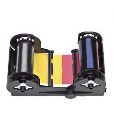 Nisca YMCKO Full Color Ribbon w/ Resin Black & Clear Overlay - 250 prints/roll