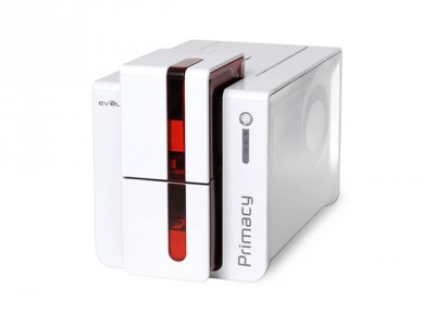 Evolis Primacy Card Printer (Single side, Smart & Contactless Enc, Red)