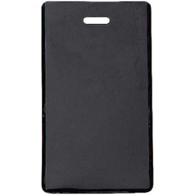 Black Semi-Rigid Vinyl Luggage Tag Holder (100/Pkg)