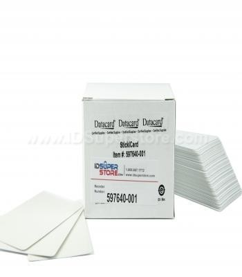 Datacard 597640-001 Adhesive Sticki Back Cards 10 mil (100/Box)