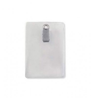 Vertical Name Badge Size Holder w/ Clip (100/Box)