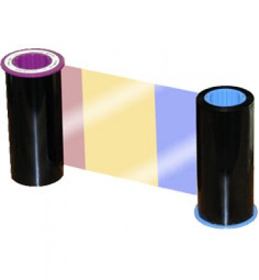 Zebra YMCK Color Ribbon with Resin Black Panel for ZXP Series 8 Printers - 625 prints/roll