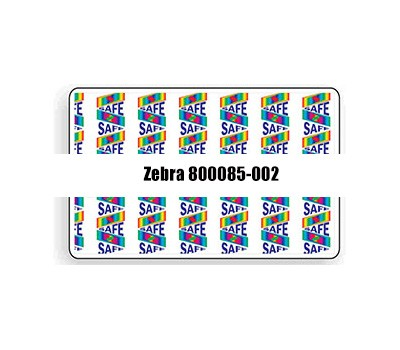 Zebra 800085-002 1 Mil Bottom Holographic Laminate with SAFE2 Design - 750 Imprints