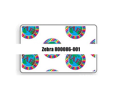 Zebra 800086-001 1.0 mil Top Holographic Laminate with Safe Design - 750 Imprints