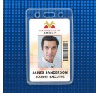 PureClearᆰ Vertical Badge Holders, Data/Credit Card Size (100/Box)