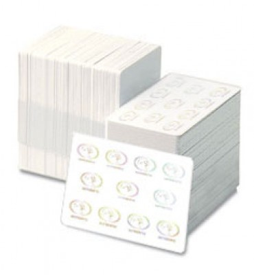 Zebra 30 mil white composite cards with hologram (500/Box)