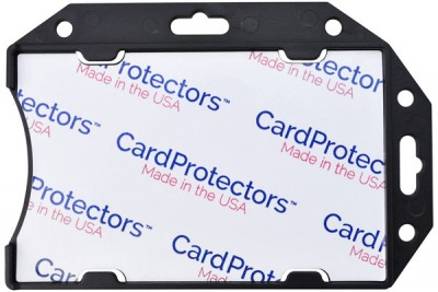 Black Rigid Shielded 1-Card Holder (50/Box)