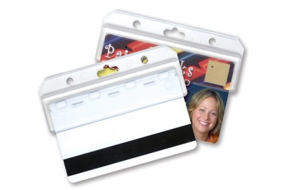 Frosted Horizontal Half Card Holder (50/Box)