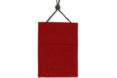 Red 3-Pocket Wallet w/ Pen Compartment (100/Box)