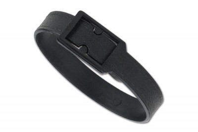Black Post And Notch Textured Strap (500/Pkg)