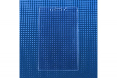 """Premium Vertical Extra Large Credential Holder - Slot & Chain Holes - 3""""X5"""" Insert Size (100/Box)"""