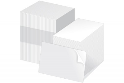Fargo 82266 UltraCard CR8010 Adhesive Paper Backed Cards - 500 Cards