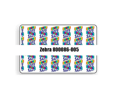 Zebra 800086-005 Holographic Top Laminate with SAFE2 Design