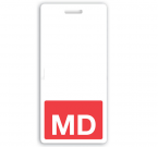"Red ""MD"" Vertical Badge Buddies (25/Box)"