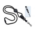 OptiBraid Break-Away Lanyards w/ Round Slider & DTACH Swivel Hook (100/Pkg)