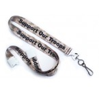 "Camouflage 5/8"" (16mm) Support Our Troops Lanyards (1000/Pkg)"