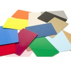 Colored Blank CR80.030 PVC Cards- Graphic Quality (100/Box)