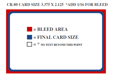 Dimensions for CR80 Plastic Cards